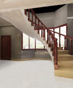 creme royal marble cork floor 3d rendering home interior