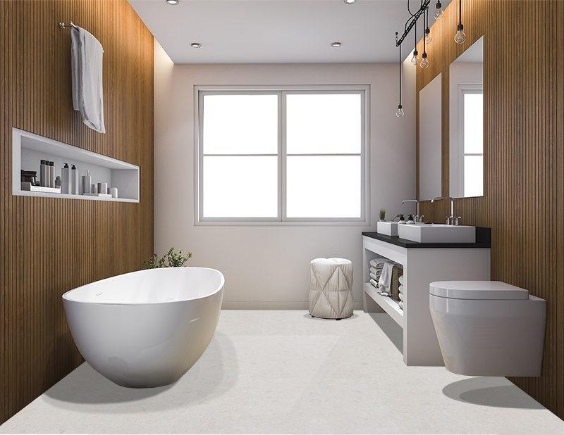 creme royal marble cork floor 3d rendering luxury wood style bathroom