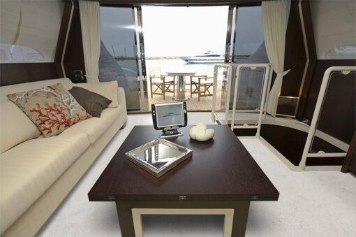 creme royal marble cork floor luxury yacht dinette boat waterproof softer flexible