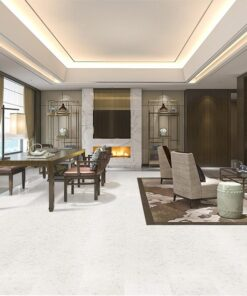 creme royal marble cork flooring classic living room with leather sofa