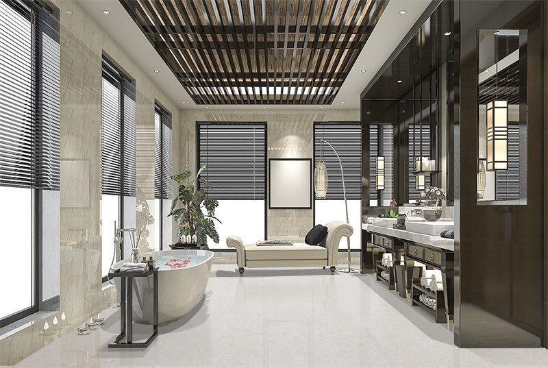 creme royal marble forna cork tiles luxury modern loft bathroom