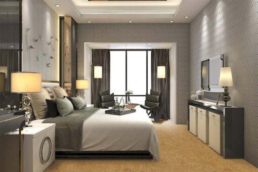 desert arable cork floor modern bedroom