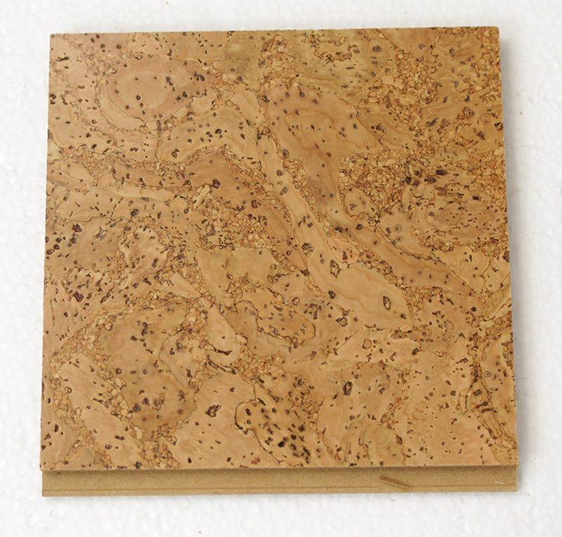 desert arable leather floating cork flooring 10mm sample