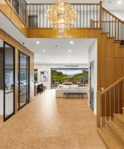 desert arable planks cork flooring 10mm living room fireplace stylish decor