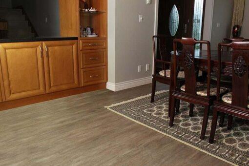 dining room flooring teak cork rustic style