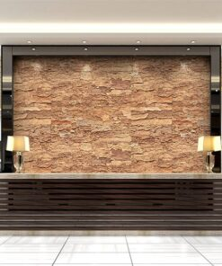 eco clay cork wall panels natural hotel lobby public space wall material office reception