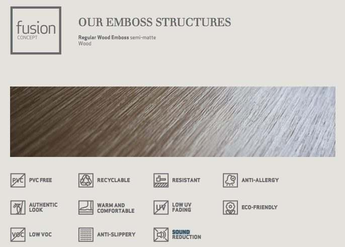 emboss structures fusion cork flooring