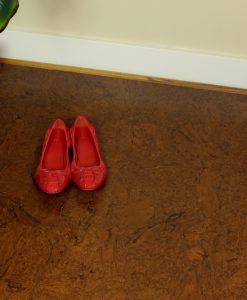 floating cork flooring mahogany salami dinning room