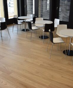forest real design wood floor cafeteria
