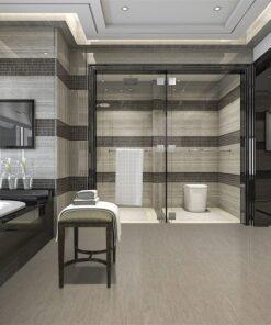 gary bamboo cork tiles -modern loft bathroom