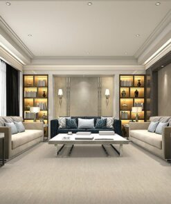 gary bamboo forna cork floor luxury modern living room grey design