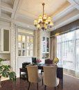 gem wood cork floor luxury office room interior decoration