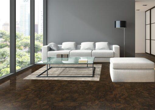 gemwood cork floor narrow planks luxury family room oval windows