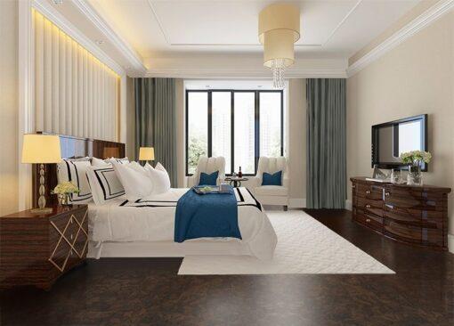 gemwood cork flooring soft cushion beautiful luxury bedroom suite in hotel