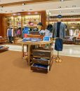 golden bach cork floor shopping mall store flooring