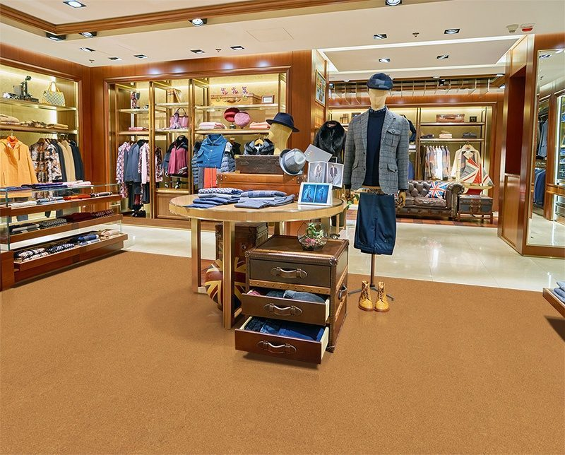 golden bach cork floor shopping mall store flooring