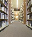 gray bamboo cork floor book shelfs new york local library