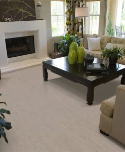 gray bamboo cork flooring contemporary living room fireplace