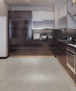 gray bamboo cork flooring dining kitchen modern style