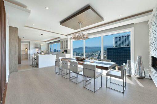 gray bamboo forna cork floor trend modern livingroom interior