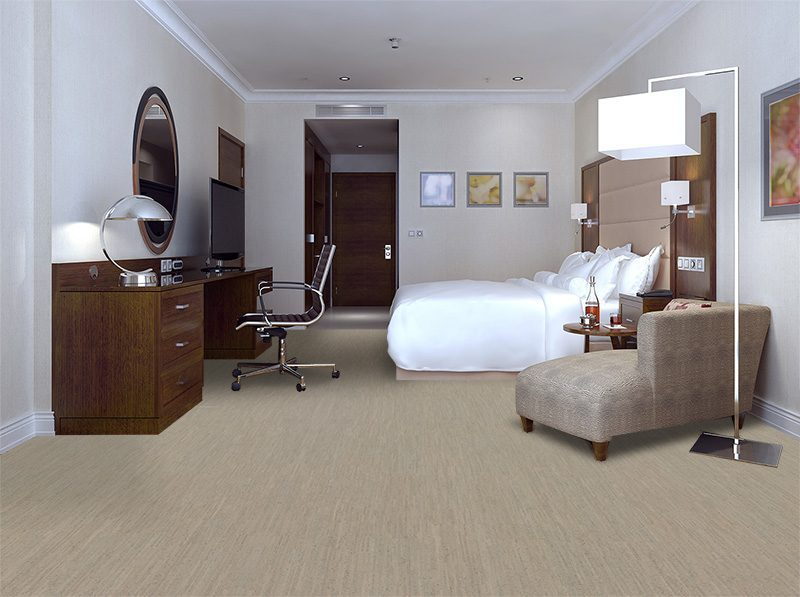 gray bmboo forna cork floor hotel room modern style render