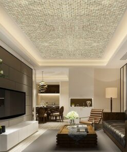 gray cubes acoustic cork ceiling tiles peel and stick in living room