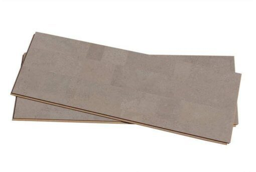 gray leather cork floating floor forna 12mm uniclic