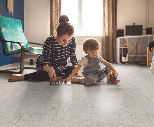 gray leather cork flooring best floor for pregnant mother and kids
