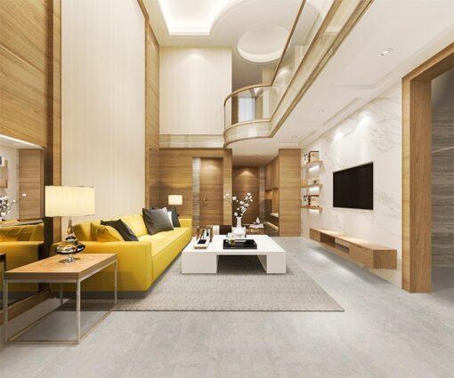 gray leather cork flooring non toxic floor options modern living room