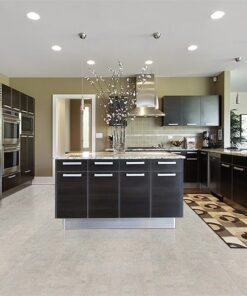 gray leather grey kitchen luxury home cork floor