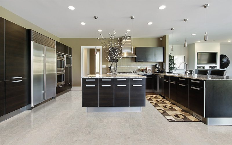 gray leather grey kitchen luxury home cork floor