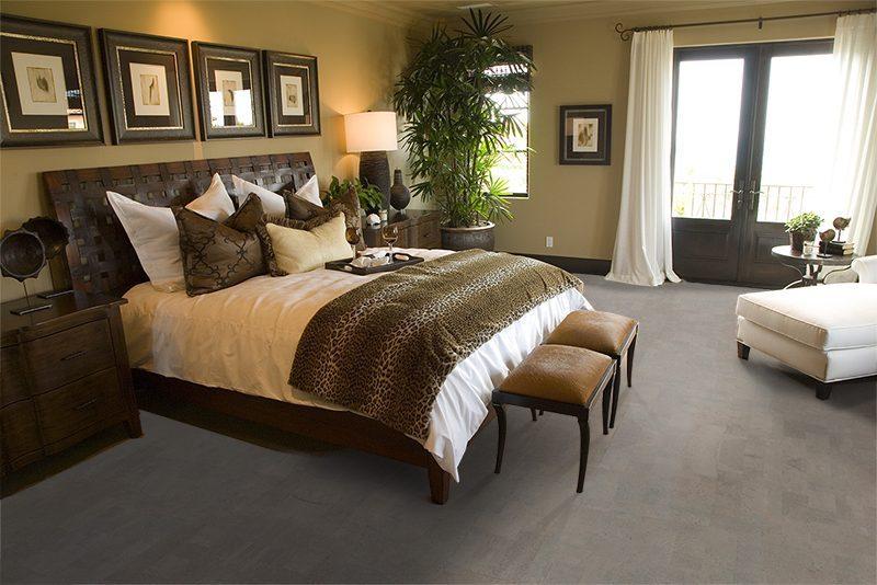 gray leather grey spacious luxury bedroom