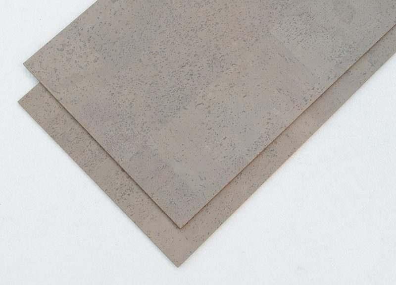grey cork floor 6mm glue down tiles leather pattern