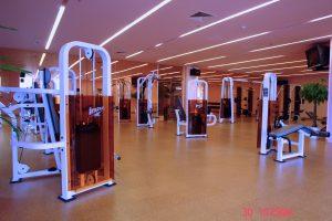 gym flooring cork exercise golden beach