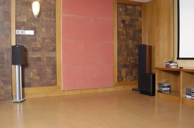home theater room acoustics natural cork soundproofing