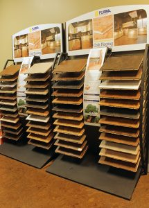 icork floor forna cork flooring display