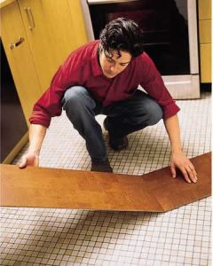 install first cork floor plank