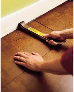 install last plank cork flooring