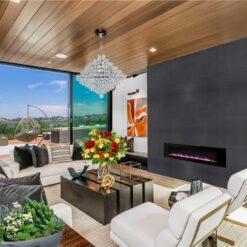 jet black cork wall tiles feature wall designs diy living room
