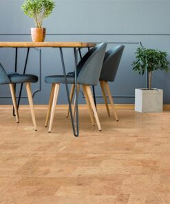 leather cork floor grey wall apartment interior dinning room