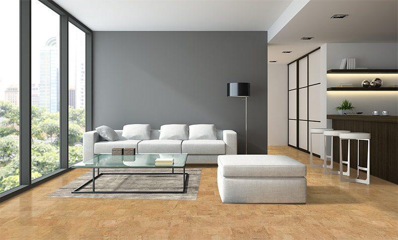 leather cork flooring modern loft design noise thermal insulation