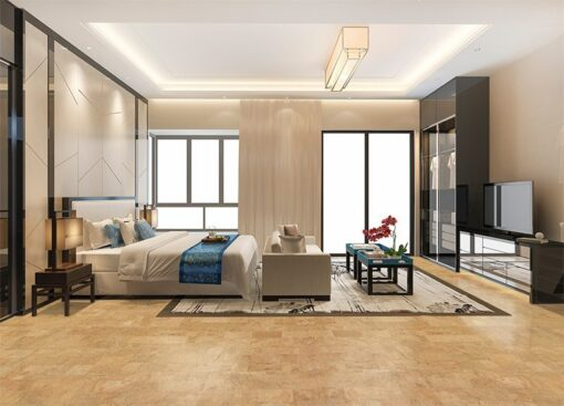 leather cork floors modern interior bedroom design ECO silent space