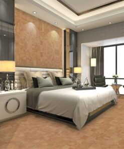 leather cork wall tiles luxury modern bedroom hotel suite