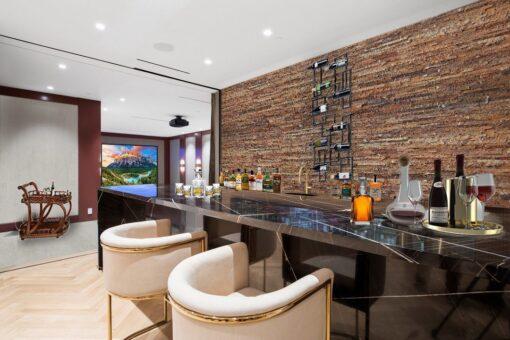 ledge stone cork wall panel wine bar wall design basement insulation quiet
