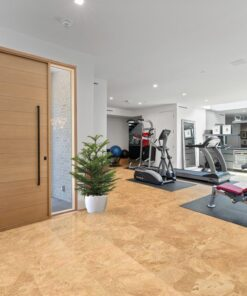 logan cork flooring gym room