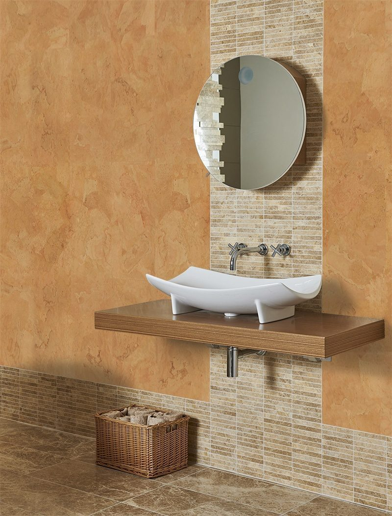Logan Cork Wall Tiles Modern Bathroom Interior