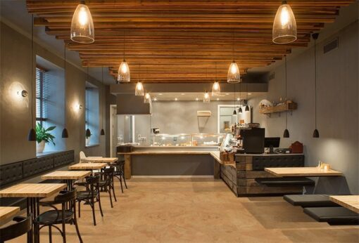 logan forna cork floor interior restaurant wooden design