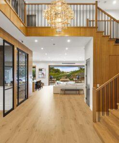 long beach design cork floating floor light natural wood insulation house