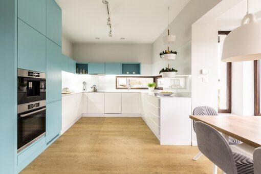 long beach design cork floor kitchen