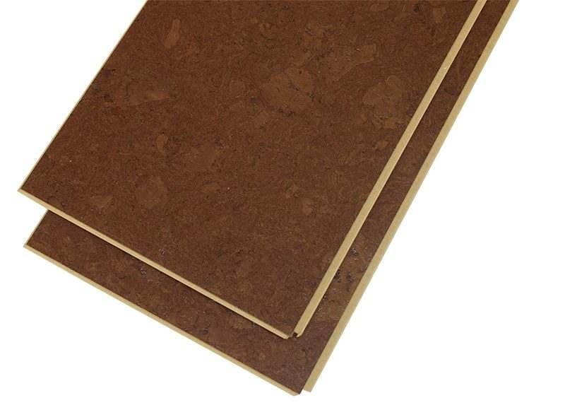 mahogany ripple 12mm cork floating flooring